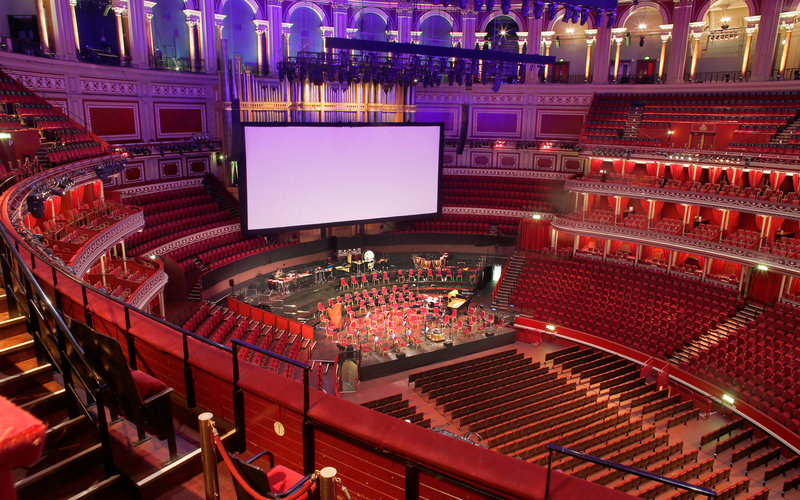 View from your seat big screen events royal albert hall for Door 4 royal albert hall