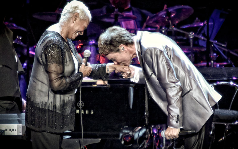 Cliff Richard and Dionne Warwick at the Royal Albert Hall. Photo: Christie Goodwin, 2012)