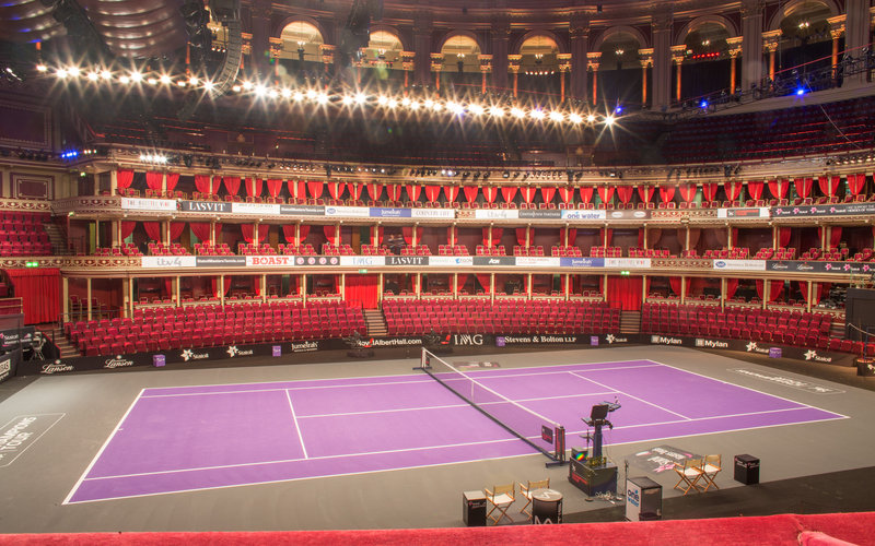 View From Your Seat Tennis Layout Royal Albert Hall