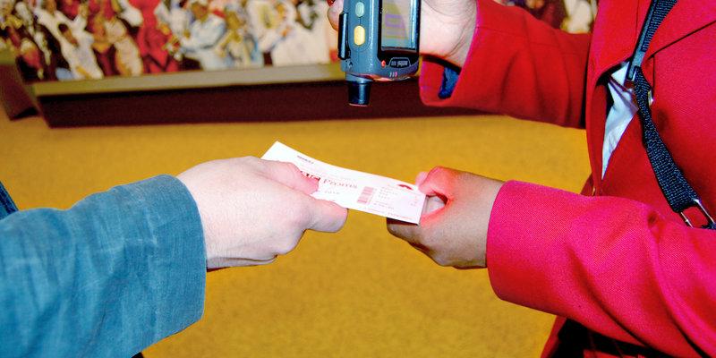 Scanning ticket)