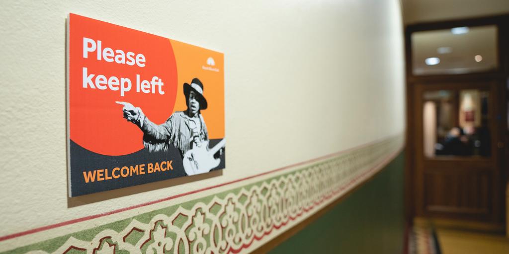 Signage in the corridor
