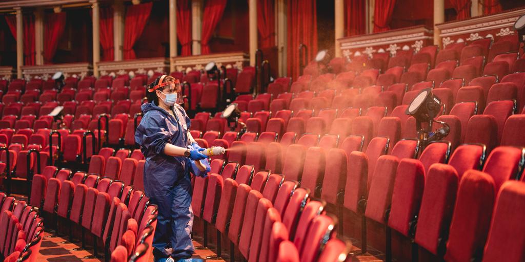 viral fogging in the auditorium